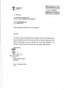 Unanimitat a l'Ajuntament de Teià en favor de l'exempció de l'IVA per a les activitats educatives