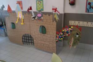 Decoració menjador escolar per Sant Jordi