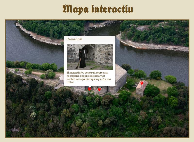 Mapa interactiu monestir de Casserres