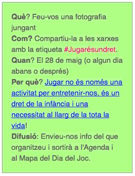 #JugarÉsUnDret