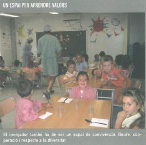 Menjador escolar espai educatiu