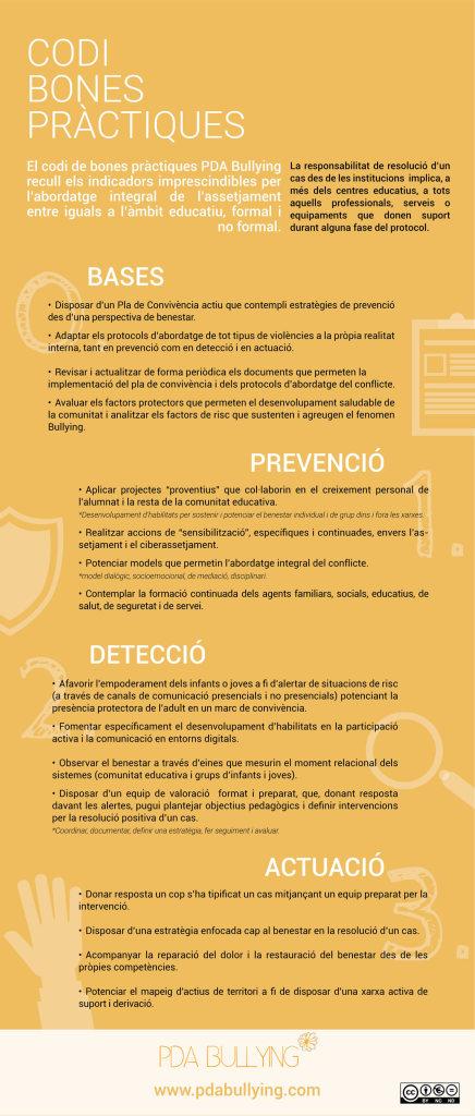 codi bones pràctiques contra el bullying